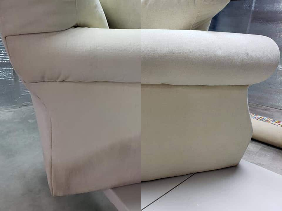Upholstery flood restoration